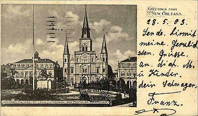 New Orleans Amerika USA Louisiana 1903 Jackson Square St. Louis Cathedral Kirche