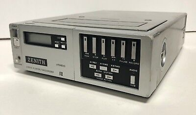 Zenith VR9800 Video Cassette Player / Recorder, Silver - VTG Electronic