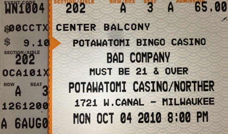Bad Company Genuine Used Concert Ticket Stub