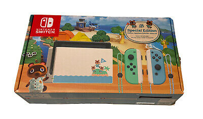 Nintendo Switch Animal Crossing Special Limited Edition Console NEW
