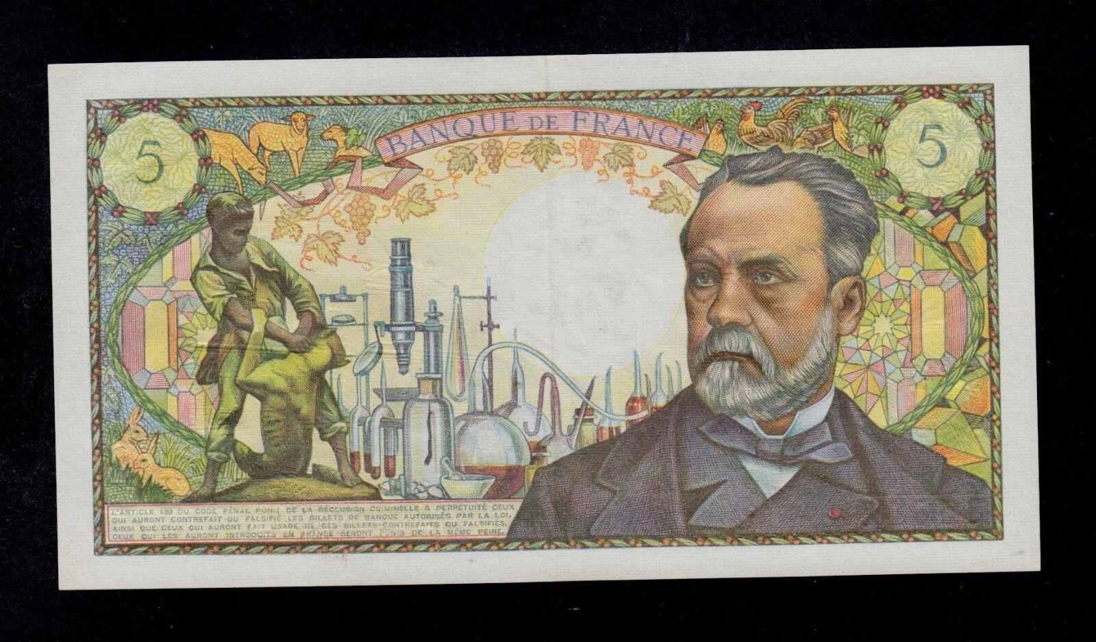 RECTO 5 francs Type 1966 Pasteur - None