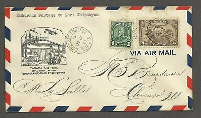 1931 Canada 1st airmail flight cover - Embarras Portage to Fort Chipewyan  k#145