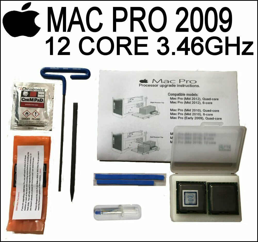 2009 12 Core Apple Mac Pro CPUs X5650-X5690 3.46GHz DONT REMOVE IHS UNLIDDED!