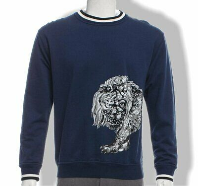 Louis Vuitton & Chapman Brothers Velvet Embroidered Lion Sweater, NIB !