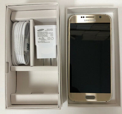 NEW Samsung Galaxy S6 G920A AT&T Factory UNLOCKED 32GB Phone Gold White Black