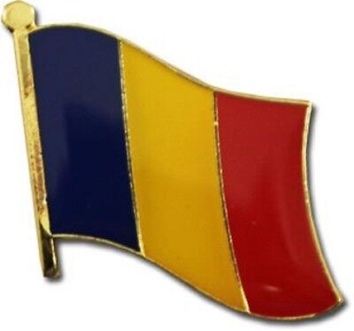 Wholesale Pack of 50 Chad Country Flag Bike Hat Cap lapel Pin