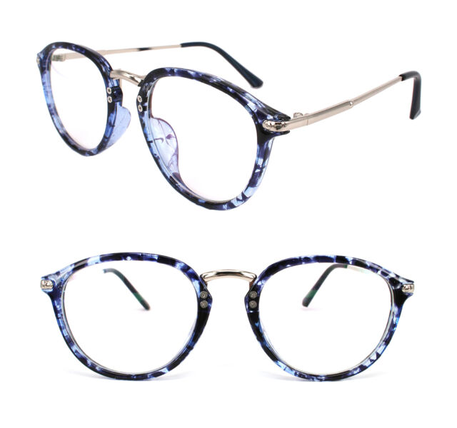 Blue Vintage Eyeglasses Frame Fashion Retro Eyewear Clean Lens RX ...