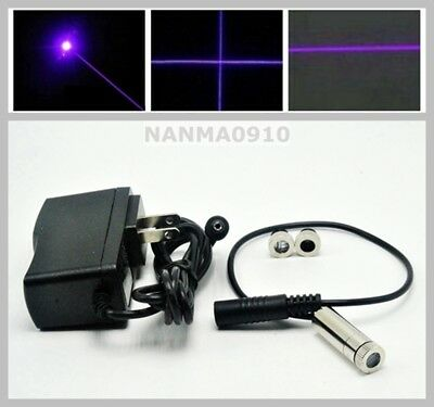 Dotlinecross 20mw 405nm Violetblue Purple Laser Diode Module W 5v 1a Adapter