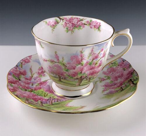 "Vintage Royal Albert ""Blossom Time"" Bone China Teacup & Saucer, England"