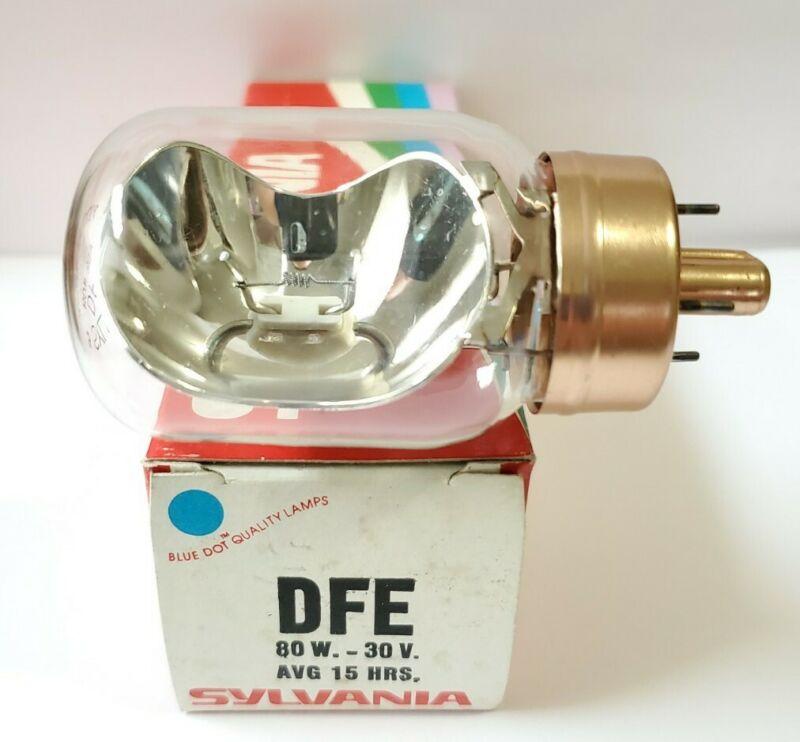 1 NOS Sylvania DFE Projector Lamp Bulb 30V 80W  AVG 15 Hours