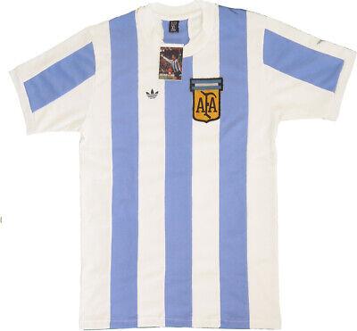 Camiseta ARGENTINA 1978 Retro Campeón Mundial Nueva. Kempes Fillol