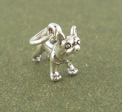 Boston Terrier Dog Charm mini Sterling Silver Pendant Animal Pet