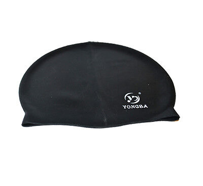 5bb455eb227c Black Men Women Kids Adult Senior Waterproof Silicone Cap Hat One Size Fits  All