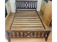 Small wooden double bed frame