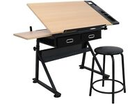 Art and drawing table/ study desk / engineering table (Adjustable)