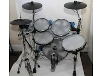 Traps E500 Electronic Drum Kit With Realistic Mesh Heads and Stool.