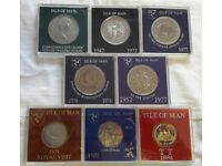 ISLE OF MAN MIXED COMMEMORATIVE COINS X 8