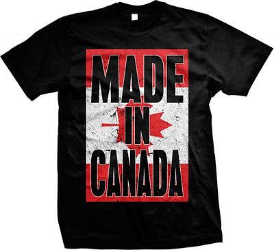 Made In Canada Maple Leaf Flag Canadian Pride Canadien Fierté Mens T-shirt