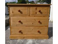 Large Waxed Solid Natural Pine Drawers