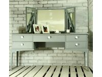 STUNNING STAG DRESSING TABLE & TRIPLE MIRROR