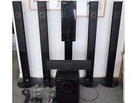 Samsung TXQ 120 home cinema surround sound system.