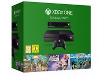 Brand New Xbox One 500GB Console with Kinect - 3 Game Value Bundle