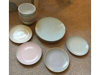 BRAND NEW! Argos HOME Tilda Dining Set - Plates, Bowls & Side Plates RRP £24.99