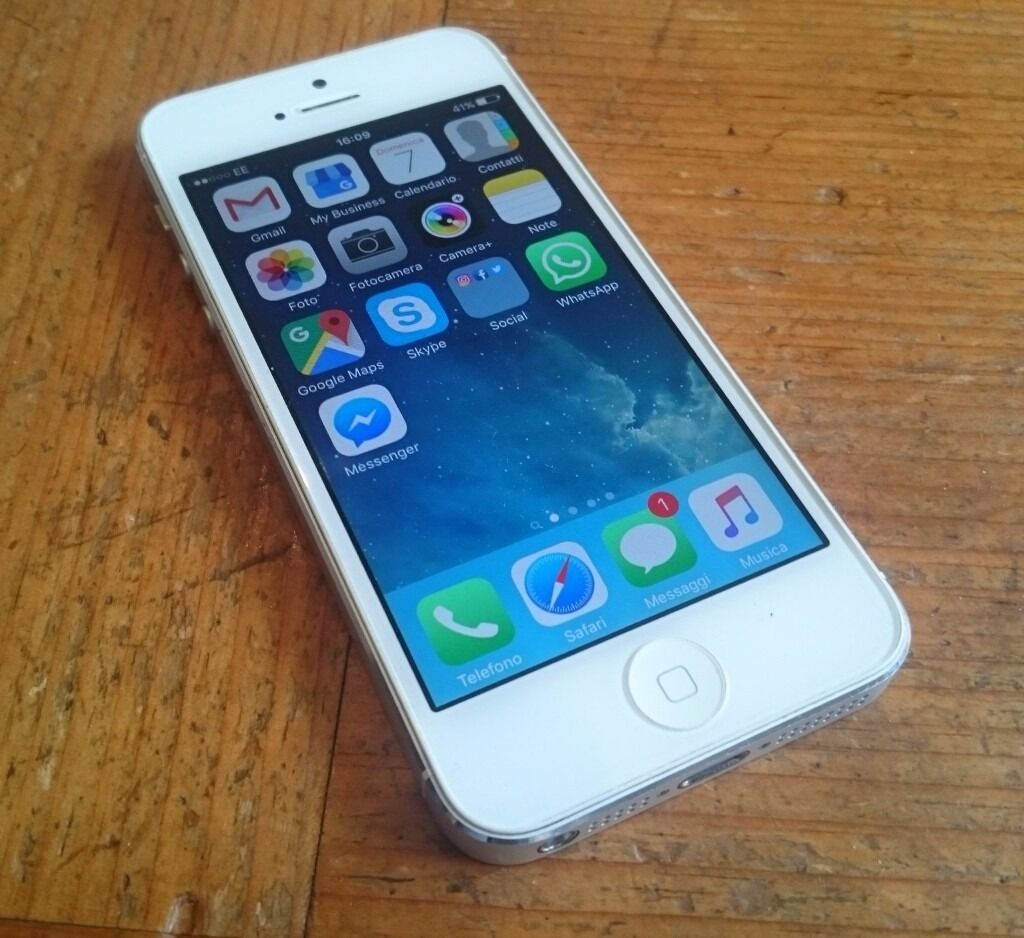 iPhone 5 white 16Gb Unlockedin Hammersmith, LondonGumtree - iPhone 5 white with charger. Bought in Apple Store. The phone is in very good condition. Always kept with cover and screen protector. Unlocked to all networks. Any question please ask, Offers welcome