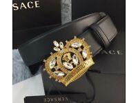 Men's Versace Gold Crown Belt - Genuine Bling Designer