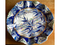 wavy embossed chinese decorative plate