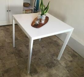Brilliantly versatile square white Ikea table