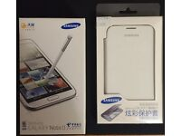 Samsung Galaxy Note 2 White, With White Case