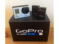 GoPro Hero 3+ Silver : used, perfect condition, with extra battery