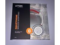 TDK WR680 OverHead Ear-Cup Wireless & Bluetooth NFC Headphones WR-680 White Brand New