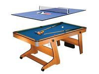 BCE 6FT Vertical Folding 3 in 1 Pool Table/Table Tennis/Darts. Second Hand