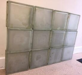 Frosted Glass bricks/blocks x 12