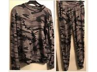 Women's Army camouflage tracksuit