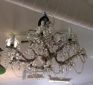 Antique Prism Light Chandelier