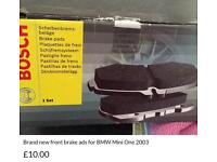 Brand new brake pads for Mini One 2003