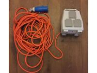 Camping mobile mains electricity supply unit