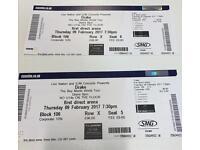 2 x Drake Tickets - Leeds Thurs 9th Feb - Block 106