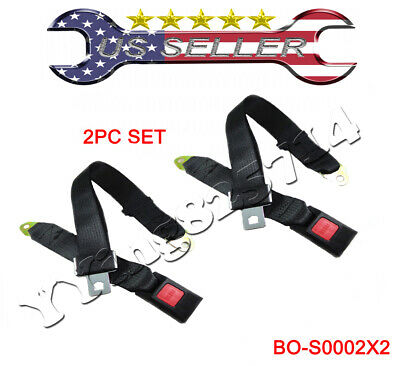 Used, 2 sets Adjustable Seat Belt Car Truck Lap Belt Universal 2 Point Safety Travel for sale  Shipping to South Africa