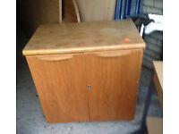 solid cupboard wooden cabinet with a shelve door