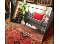 Large Art Deco/vintage Venetian style wall mirror with bevelled edges