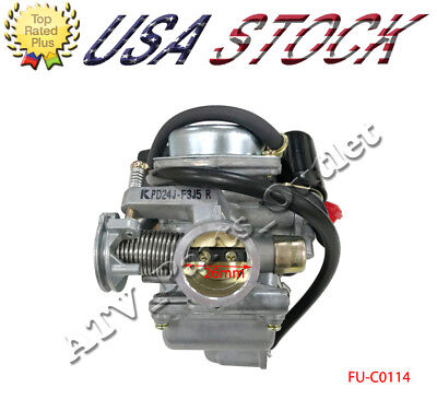 26mm Carburetor with Electric Choke for GY6 150cc 4 Stroke Moped Scooter Go Kart