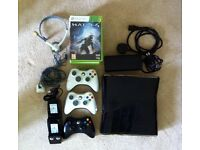 Xbox 360 Elite (250GB) with 3 Controllers & Games