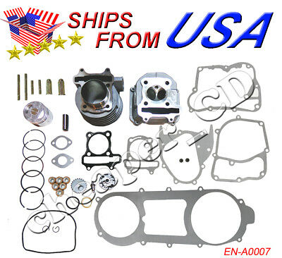 - Engine Rebuild Kit Cylinder Kit Engine Head 157QMJ Chinese 150cc GY6 Scooter