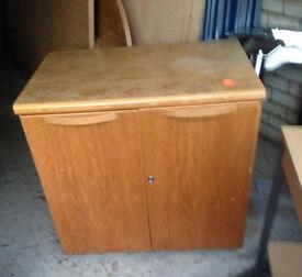 solid cupboard wooden cabinet with a shelve door