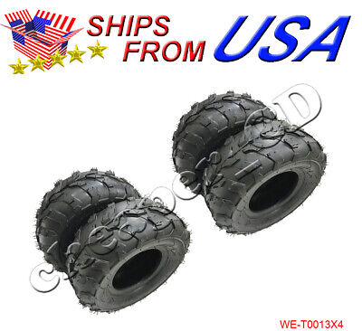 4PCS 145x70-6 Rear Front Tire 50cc 70cc 110cc ATV Quad Go Kart 145/70-6, used for sale  Houston