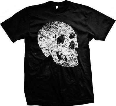 Big Boned Skeleton (Big Skull Skeleton Scary Horror Cadaver Cranium Bones Living Dead Mens)